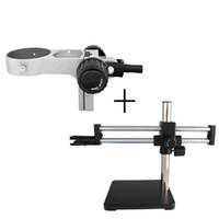 ZJ-712 del braccio doppio braccio basamento del microscopio basamento orizzontale e rotazione orizzontale intervallo di 360 ° di rotazione telescopico telescopico gamma 320 millimetri