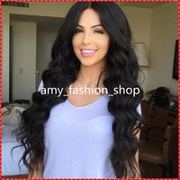 Thick and Soft Virgin Hair 180 Density Full Lace Wig Glueles...