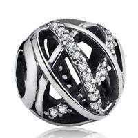 Original 925 Sterling Silber Pave Kristall Weihnachtsgalaxie Openwork Charms Perlen für DIY Charme Armbänder Modeschmuck Machen