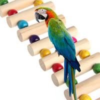 Delight eShop 47cm Birds Swing Wooden Bridge Ladder Climb Cockatiel Parakeet Budgie Parrot Pet Toy