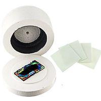 Vetro attrezzi dei monili Grande Microonde Kiln 19.5x11cm vetro fusione forno + 10pcs di carta forno