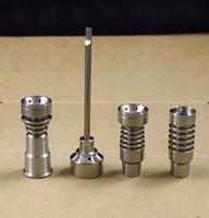 14MM und 19MM Domeless Titanium Nagel GR2 Ti Nails Carb Cap Dabber Glas Bong Ölanlage