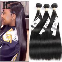 Высший сорт 7A девственные волосы Straigt 3 пучки необработанные девственные бразильские волосы человеческие волосы плетение прямые бразильские волосы пучки