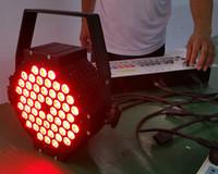 Freies Verschiffen Gussaluminium 54 * 3W 3in1 LED Gleichheit macht Aluminium Tri Farbe flache DMX LED Stadiums-Beleuchtung ein