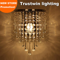 Gümüş Art Deco Stil Koridor LED Duvar Lambaları Merdiven Oturma Odası Yatak Odası Kristal Başucu Işık Lamba Aplik