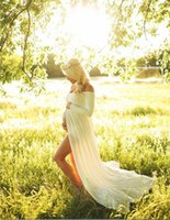 New Maternity Dress Photo Shoot Maxi Maternity Gown SPLIT FR...