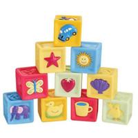 10 PC는 / 설정 아기 플라스틱 빌딩 블록 교육 학습 건설 Developmental 장난감 세트 고품질의 두뇌 게임 장난감