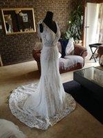 2020 сад винтаж свадебные платья карманы пляжное платье свадебное платье для беременных беременные платья сексуальные глубокий V-образным вырезом кружева спинки