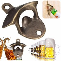 Vintage Bronze Wall Mounted Opener Wine Beer Soda Glass Cap Bottle Opener Kitchen Bar Regalo DHL / FEDEX / EMS GRATIS