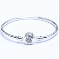 classic women 925 silver Bracelets bangle Fit Luxury Brand C...