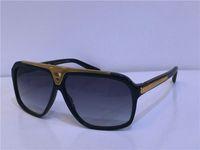 Sıcak Erkekler Moda Tasarım Güneş Gözlüğü Milyoner Kanıt Güneş Gözlüğü Retro Vintage Parlak Altın Yaz Tarzı Lazer Logosu Z0350W En Kaliteli