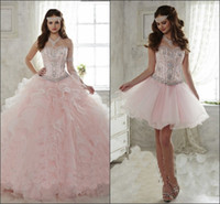 Detachable Ruffled Train Sweet 15 Girls Quinceanera Dresses ...