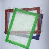 Almohadillas de cera de silicona esteras de hierba seca grandes 20 cm redondas o 31 * 20 cm hojas de dabber esteras cuadradas tarros herramienta dab para contenedores de aceite de silicona dabber