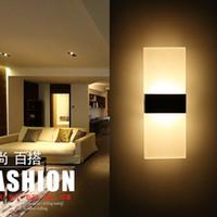 Akrilik LED Duvar Aplikleri Lambası Kapalı LED Duvar Işık Antik Dikdörtgen Sundurma Işık kapalı duvar ışık 15.