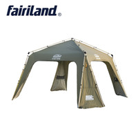 Outdoor Luxury Ultralarge Shelter Camping Escursioni Hike Travel Play party family instant quick open Tenda per 12 persone in alluminio auto pole