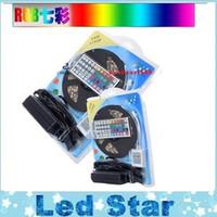 RGB LED tiras Kit luces 5050 12V Flexible LED luces de la cuerda a prueba de agua IP65 + 44 teclas Controlador + 12V 5A fuente de alimentación