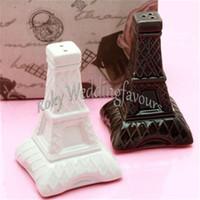 ENVÍO GRATIS 100 UNIDS = 50 Conjuntos Románticos Torre Eiffel de Cera de Sal Salpicaduras de Pratical Favores de La Boda Regalos Del Partido Evento Recuerdo