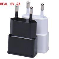 Adattatore da viaggio per caricabatterie da parete USB Full Full 5V 2A di alta qualità per Samsung EU US Plug