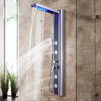 Shower Faucet LED Rainfall Waterfall Shower Head 3 Model Mis...