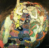Gustav Klimt - Maiden Young girls portraits, Free Shipping, Pu...