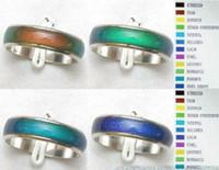 Anéis de humor MOOD Rings muda de cor para a temperatura do seu sangue mix tamanho 100pcs