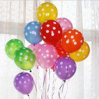12 بوصة اللاتكس البولكا النقاط البالونات الزفاف عيد البالونات الديكور globos حزب بالون البلوني أنيبروي كيد اللعب hjia663