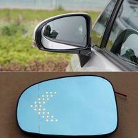 Новый автомобиль зеркало заднего вида широкоугольный гиперболический синий зеркало стрелка LED рулевой фонарь для Toyota Prius