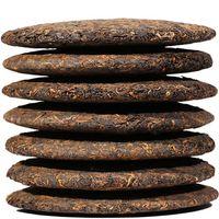 357g madura Puer de Yunnan Qizi Wishful Puer Orgánica Pu'er árbol viejo Cocido Puer Pu Erh Natural Negro PU-erh torta del té