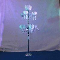 самый последний кристаллический штендер для украшения дорожки венчания , кристаллической стойки цветка для этапа венчания