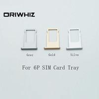 Real Photos Высококачественный лоток для SIM-карты для iPhone 6Plus 6 Plus Серый Золотой Серебристый Доступный цвет Заказ смешивания Принять