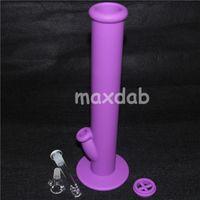 Mais novo brilho em bongos escuros tubos de água de silicone bong de silicone sete cores para a escolha de vidro bongos tubo de água de vidro tubo de água de silicone