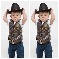 2016 custom camo boys formal wear camouflage real tree satin vest cheap sale only vest for wedding kids boy formal wear