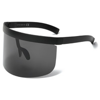 SunglassesOversized خمر إضافي كبير جدا درع واقي من عدسات قناع رجل إمرأة نظارات العلامة التجارية مصمم أزياء ذكر أنثى نظارات UV400 L117