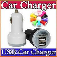 100X For Iphone 7 Mini Car Charger Colorful 2 Ports Nipple C...