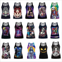 Halloween Costume Terror Devil Camis Mulheres Esqueleto Zombie Tanks Party Masquerade Vest Make-up Dance Parade Tops Vest Vestidos femininos B3472