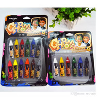 12/6 Colorsl Vücut Boyama Crayon Yağlıboya Makyaj Pigment Çocuklar Çocuk Çizim Oyuncaklar Hediye Yüz Boyama Kalemleri Yüz Deco
