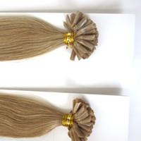 퓨전 U 팁 인간의 머리 확장 화려한 머리 100 % 브라질 머리 자연 각질 캡슐 U 팁 머리 확장