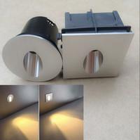 أدى الجدار الشمعدان مصابيح 85-265v 3W الألومنيوم راحة أدى درج ضوء الجدار خطوة الأنوار في الخطوة / مصابيح الممر جزءا لا يتجزأ من الجدران الإضاءة