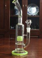 Barato Grace Glass Bongs barril en línea para cruzar doble difusa 14.4mm Tall 28cm JM Flow Sci plataformas petroleras reciclar vidrio Bongs Hookahs