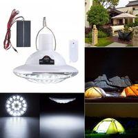22 LED rechargeable super brillant télécommande de télécommande lumineux lumières de camping solaire lampe de poche Capteur automatique