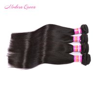 8A brazillian straight human hair weave can be colored 4 bun...