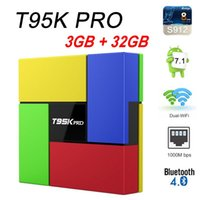 T95K PRO Android 7. 1 Smart TV Box Amlogic S912 Octa Core 3G3...