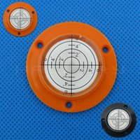 Haccury 50 * 9mm 플랜지 플라스틱 범용 레벨 버블 장착 구멍이있는 여러 가지 빛깔의