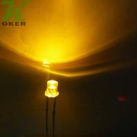 1000 stücke 3mm Gelb Flat top LED-Licht Lampe led Dioden 3mm Flat Top Ultra Helle Weitwinkel-leds Kostenloser Versand