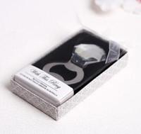 100pcs / lot favorece regalos de cristal anillo de diamantes de la botella de cerveza abridor de metal