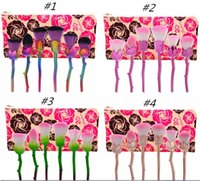 6 Pcs 3D Rose Flower Shape Makeup Brushes Cosmetic Powder Fa...