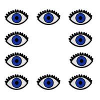 10 STÜCKE Demoniac Eye Stickerei Patches für Kleidung Taschen Eisen auf Transfer Applique Patch für Kleidungsstück Jeans DIY Nähen auf Stickerei Abzeichen