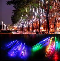 Многоцветные 30 см 50 см метеоритный дождь трубы AC100-240V светодиодные рождественские огни свадьба сад Рождество строка свет открытый