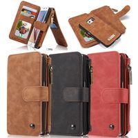 아이폰 7 아이폰 6s 플러스 note7 케이스 CASEME 고급 정품 가죽 지갑 케이스 kickstand 카드 슬롯 2 - in - 1 지퍼 커버 아이폰 7 6s 플러스