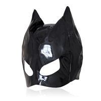 براءات جلد القط قناع مثير اللاتكس واقعية رئيس عبودية هود الكبار مثير القبعات الأسود pvc صنم المثيرة لعب الجنس لعب للأزواج